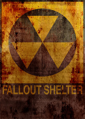 FallOut Shelter Sign - Weathered