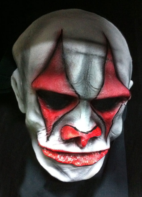 Evil Clown Horror Mask Latex/Foam