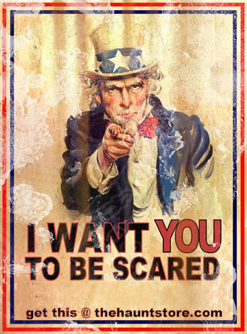 Uncle Samy Wants You Scared Poster - Weathered