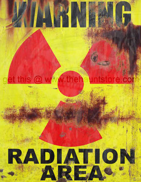 Warning Radiation Area  Sign - Weathered