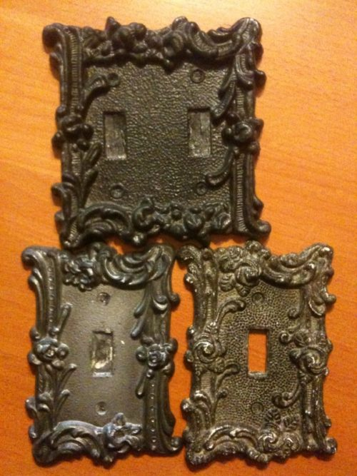 Haunted Vintage Switch-plate Set - 3 Resin unpainted
